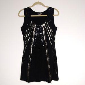 Glamour Sequin Studded Black Dress Size 12